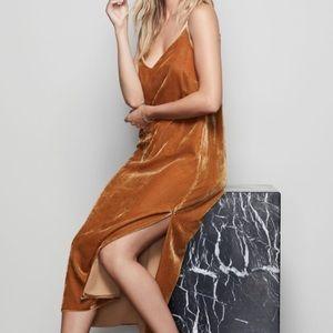 7 for all Mankind Velvet Slip Dress with slits